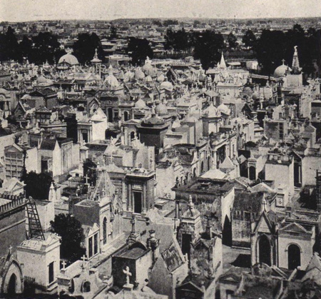 Frank Carpenter 1923 photo of Recoleta Cemetery