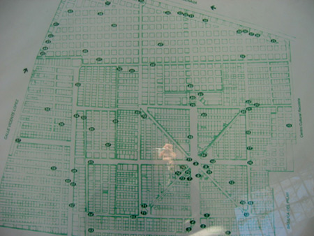 July 2003 map, Recoleta Cemetery