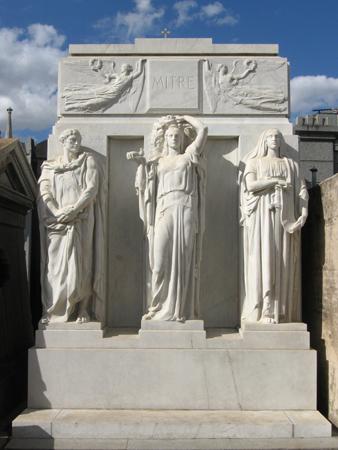 Bartolomé Mitre, Recoleta Cemetery