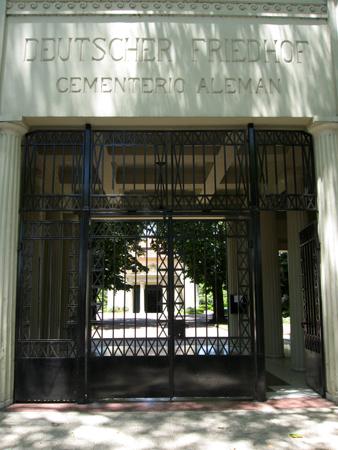 Cementerio Alemán, entrance, Juan Kronfuss