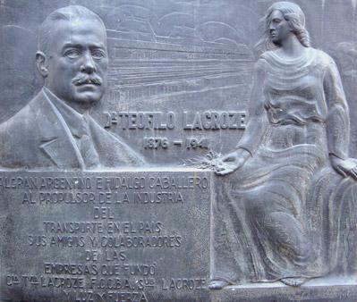 Perlotti plaque, Recoleta Cemetery