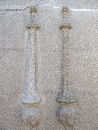 Inverted torch, Recoleta Cemetery