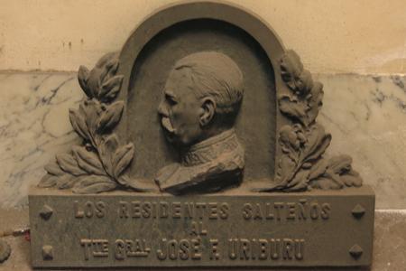 Recoleta Cemetery, Buenos Aires, José Félix Uriburu