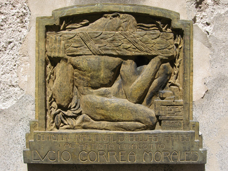 Lucio Correa Morales, Recoleta Cemetery