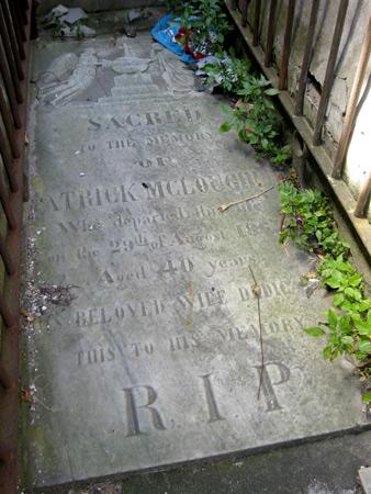 Patrick McLoughin, Recoleta Cemetery