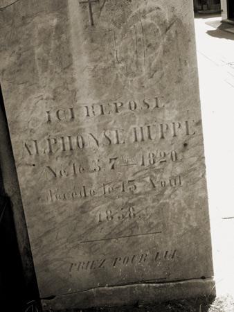 Alphonse Huppé, Recoleta Cemetery