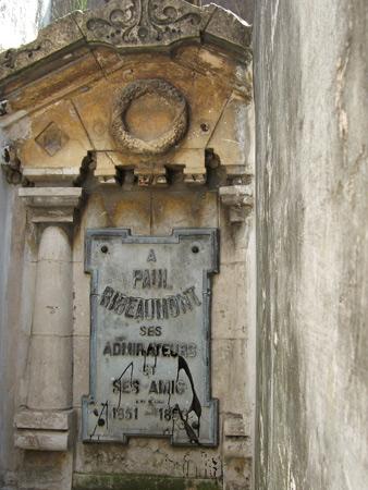 Paul Ribeaumont, Recoleta Cemetery
