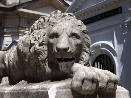 Lion sculpture, Recoleta Cemetery