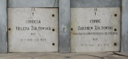 Conde & Condessa Zoltowski, Recoleta Cemetery