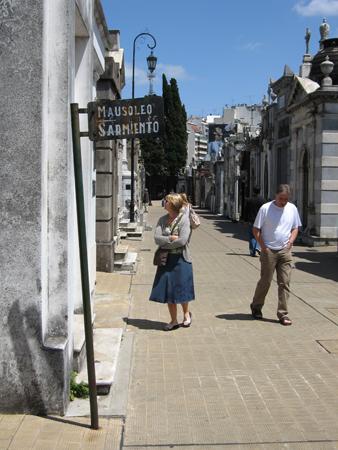 Sarmiento, Recoleta Cemetery