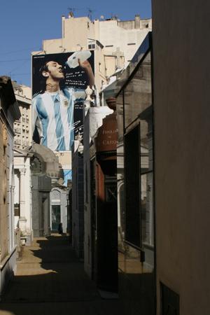 Advertising, Recoleta Cemetery