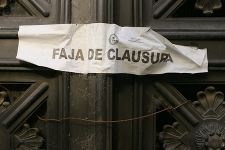 Faja de clausura, Recoleta Cemetery
