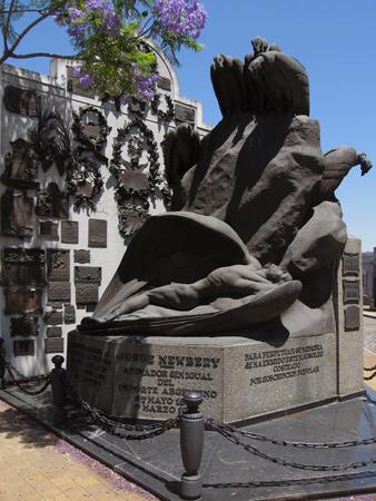 Cementerio de la Chacarita, Buenos Aires, Jorge Newbery