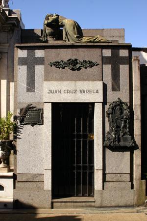 Juan Cruz Varela, Recoleta Cemetery