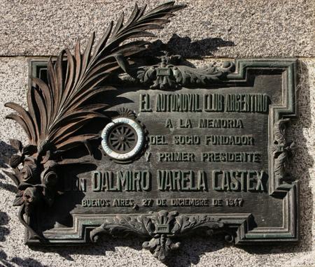 Dalmiro Varela Castex, Recoleta Cemetery