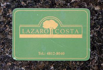 Lazaro Costa sticker, Recoleta Cemetery