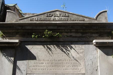 Recoleta Cemetery, Buenos Aires, Lorenzo Finocchio