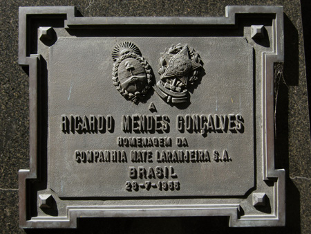 Mendes Gonçalves, Recoleta Cemetery