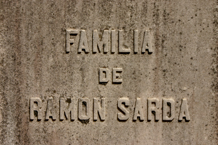 Ramón Sardà, Recoleta Cemetery
