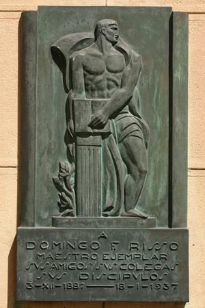 Domingo F. Risso, Recoleta Cemetery