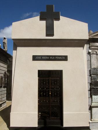 José María Vila Penalta, Recoleta Cemetery