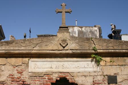 Santa-María, Recoleta Cemetery