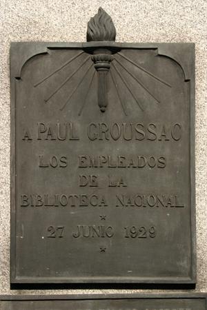 Paul Groussac, Recoleta Cemetery