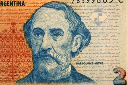 Bartolomé Mitre, 2 peso bill