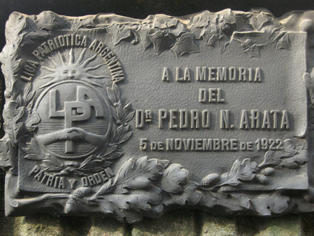 Pedro Arata, Recoleta Cemetery