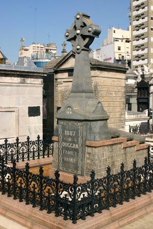 Duggan family vault, Recoleta Cemetery