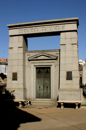 General Alvear, Recoleta Cemetery