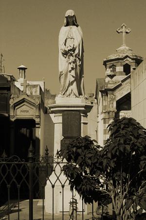 Juan Facundo Quiroga, Recoleta Cemetery