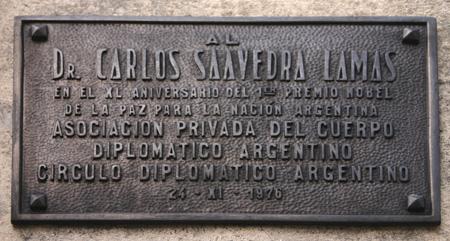 Recoleta Cemetery, Buenos Aires, Saavedra Lamas