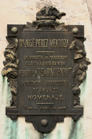 José Pérez Mendoza, Recoleta Cemeter
