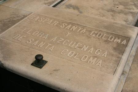 Gaspar Santa Coloma, Recoleta Cemetery