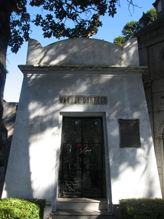 Recoleta Cemetery, Buenos Aires, Manuel Dorrego