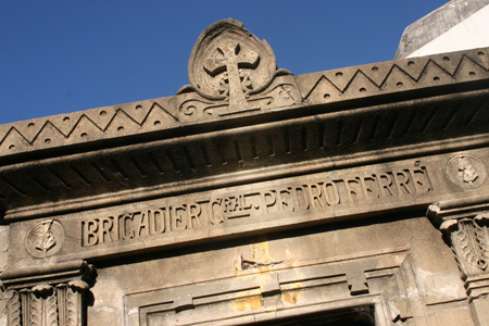Pedro Ferré, Recoleta Cemetery