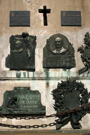 Vicente López y Planes, Recoleta Cemetery