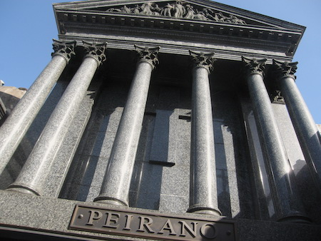 Recoleta Cemetery, Buenos Aires, Peirano, Troiano Troiani