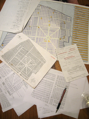Master map, Recoleta Cemetery