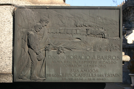 Horacio Barros, Recoleta Cemetery