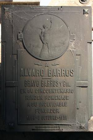 Álvaro Barros, Recoleta Cemetery