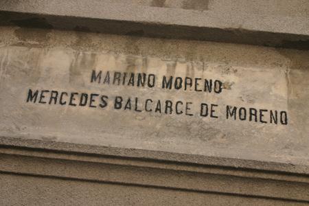 Mariano Moreno, Recoleta Cemetery