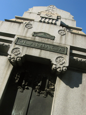 Olariaga, Recoleta Cemetery