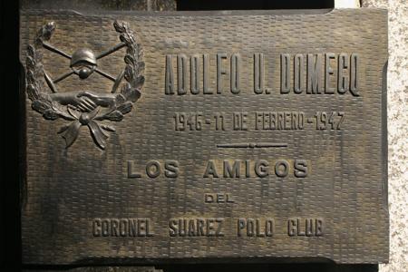 Urbano Domecq, Recoleta Cemetery