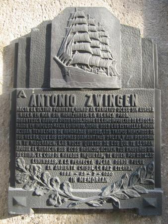 Antonio Zwingen, Recoleta Cemetery