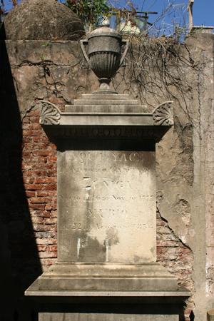 Victorio García de Zuñiga, Recoleta Cemetery