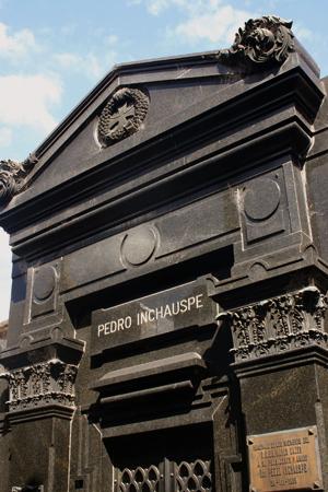 Pedro Inchauspe, Recoleta Cemetery