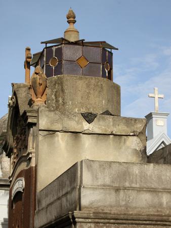 Crumbling rooftops, Recoleta Cemetery
