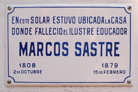 Marcos Sastre, Recoleta Cemetery